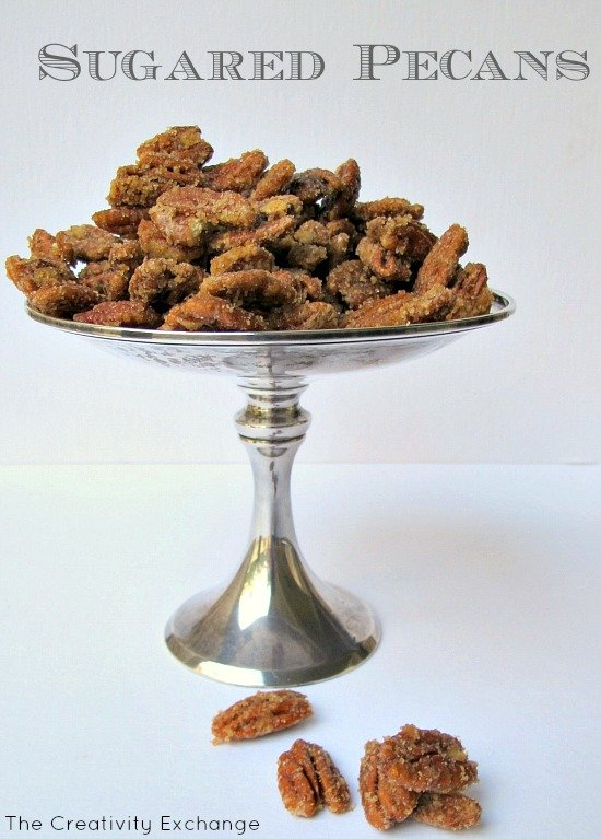 Recipe for Easy and Quick Sugared Pecans {The Creativity Exchange}