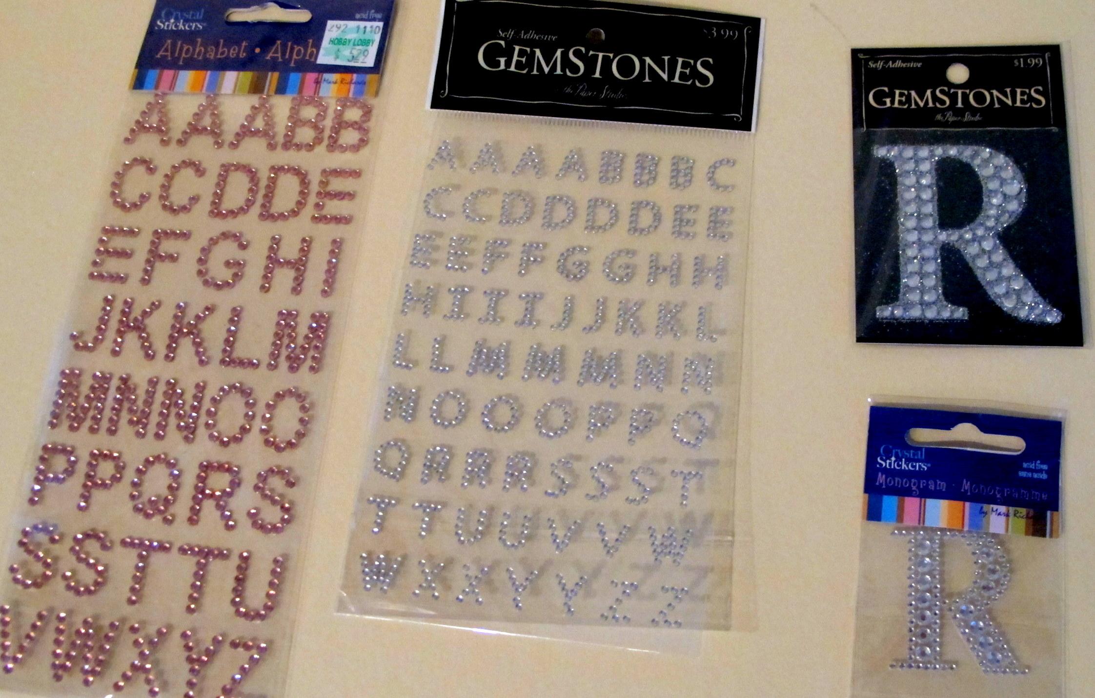 Monogram Wine Glasses Permanently with Rhinestone Letters…