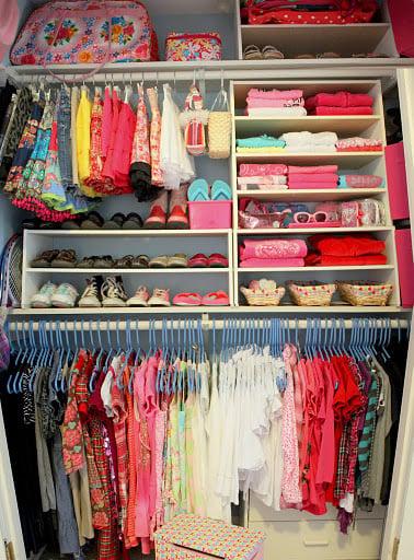 Organizing A Junk Closet With Cube Storage Units