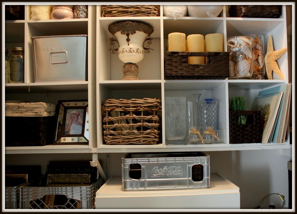 closet, organized shelves