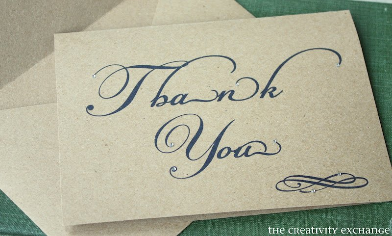 printable thank you note card