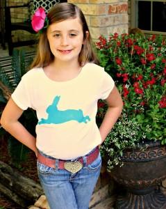 bunny t-shirt, bunny screen print
