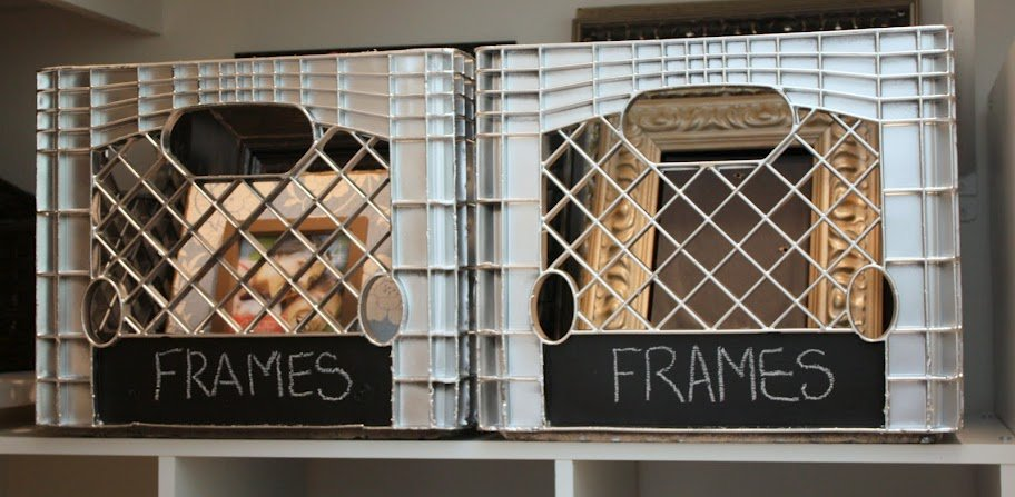 wanted to use these plastic grocery crates for my project because ...