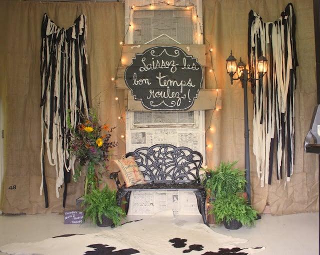 Chalkboard SIgn, cajun party, vintage new orleans