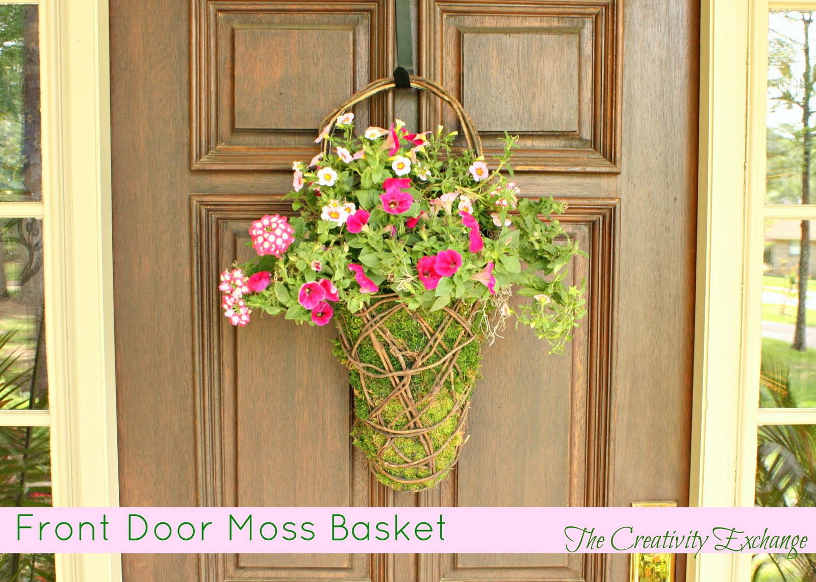 Easy Front Porch Moss Basket..