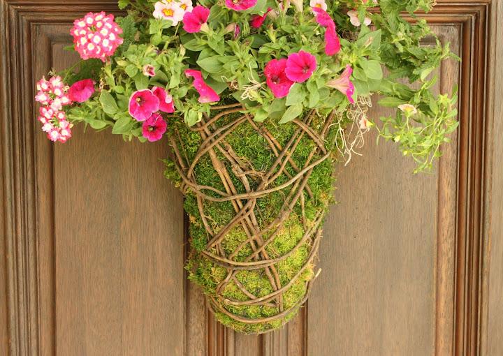 moss basket, how to make a moss basket