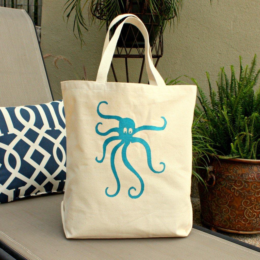 Beach Bag- Octopus-Octopus Beach Bag