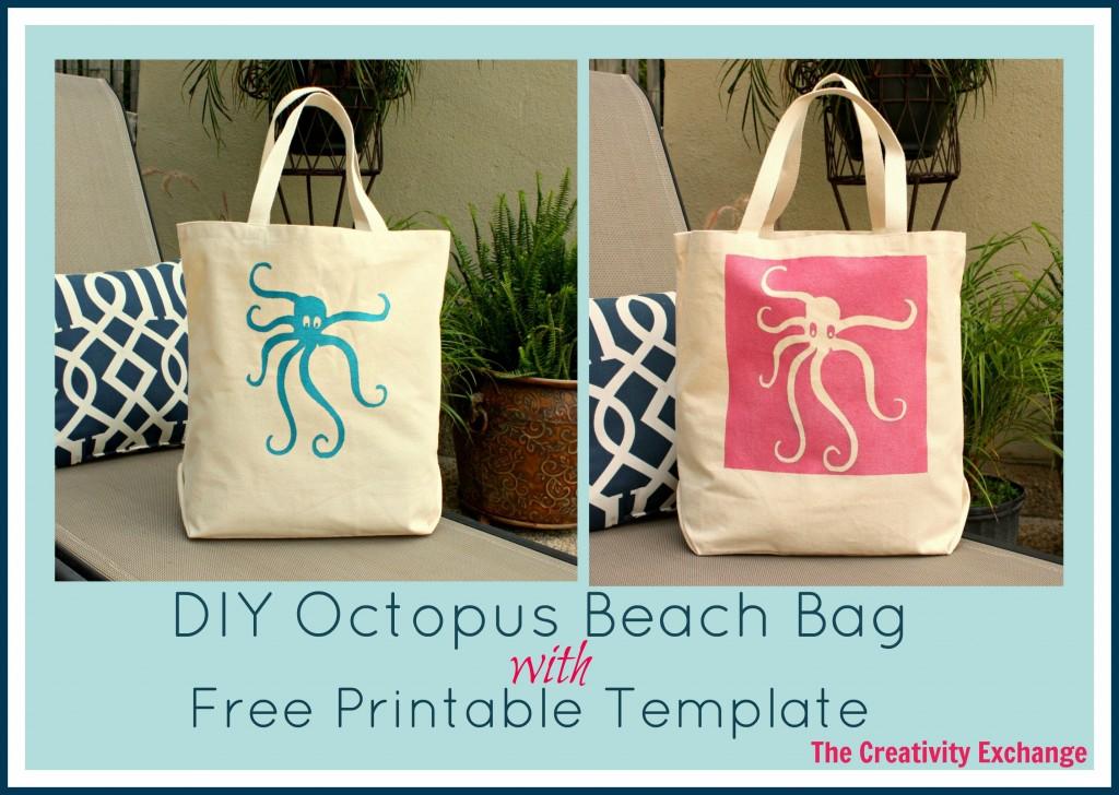 Octopus- Beach Bag- Octopus Beach Bag