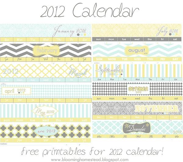 Free Printables, Free Calendar