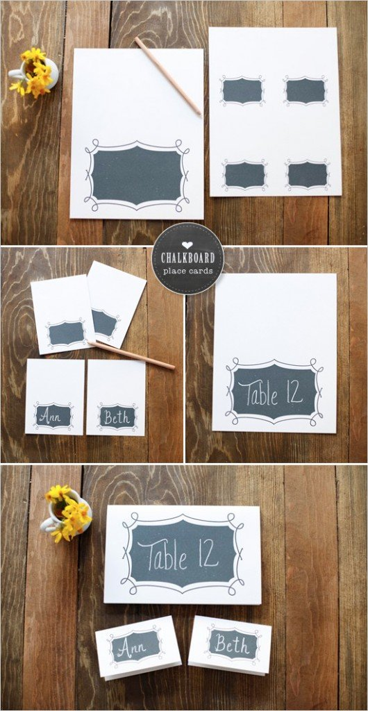 Free Printable, Chalkboard Printable, The Wedding Chicks