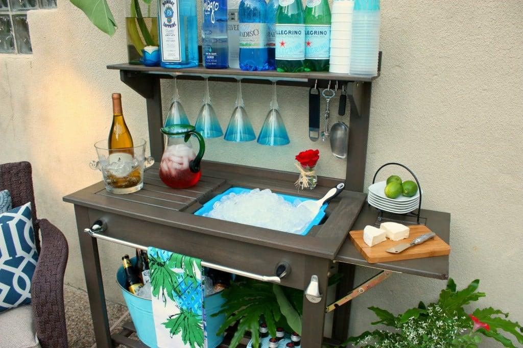 potting bench outdoor bar 1