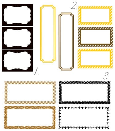 Free printables friday favorites for Classic house labels