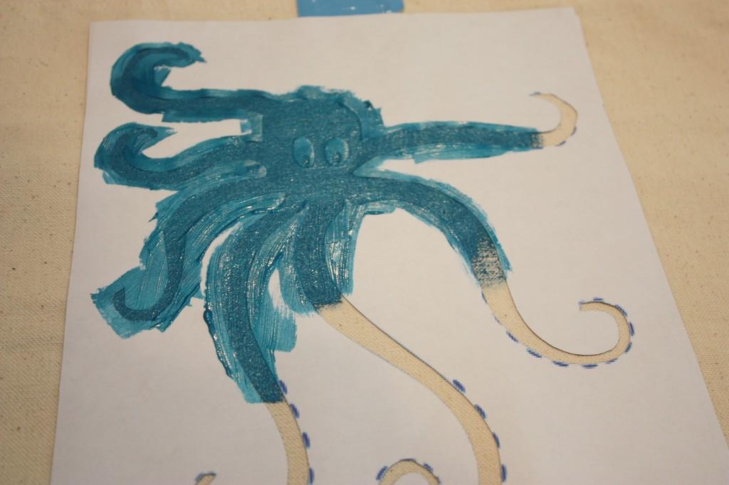Octopus-Stencil- Label Stencil