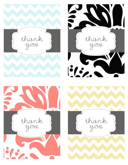 Free Printable, Thank You Cards, Printable Thank You Cards
