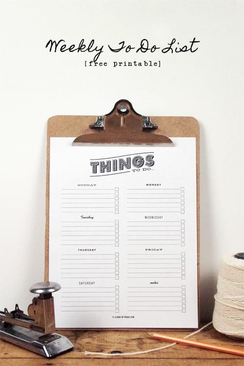 Free Printables, Printable list, Printable to-do list