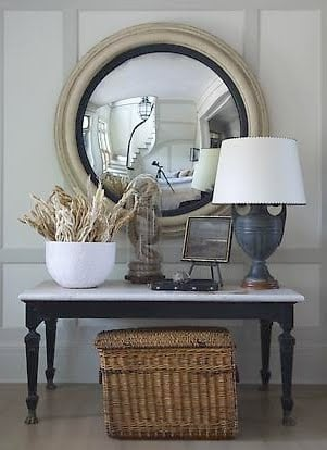 Decorating Tips- Decorating Tricks- Mirror- Entry Eay