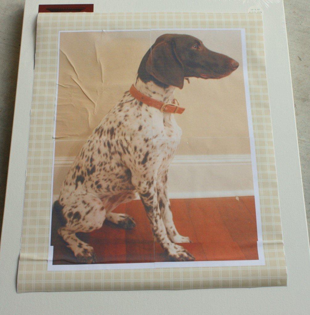 17bfcf4f0fb1 DIY Dog Silhouette Art