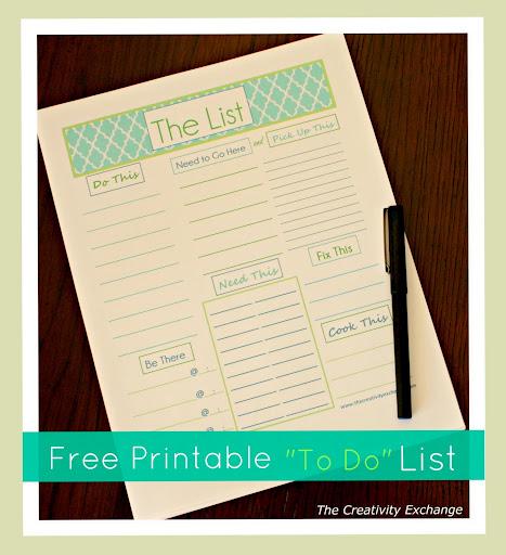 Free Printable- To Do List- Printable