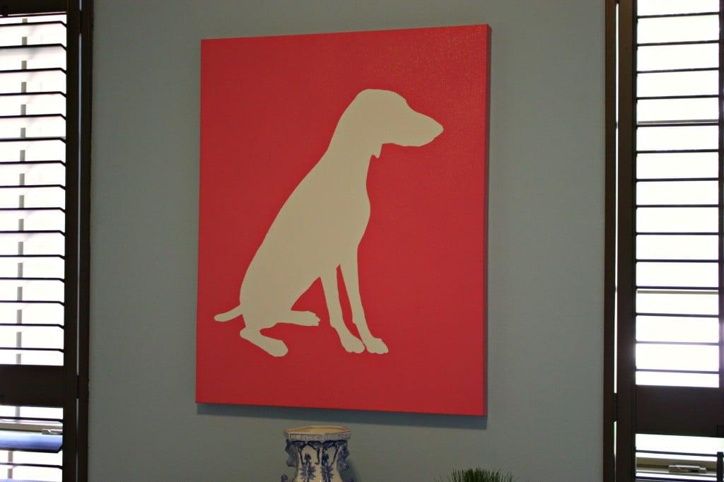 Dog Silhouette- DIY Dog Silhouette Art