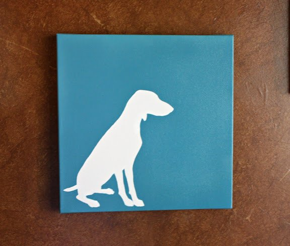 Dog Silhouette Art- DIY Art
