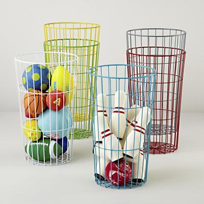 Wire Baskets- Baskets for Balls- Organization- Ideas