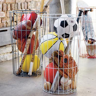 Metal Baskets- Storage- Organization- Ideas
