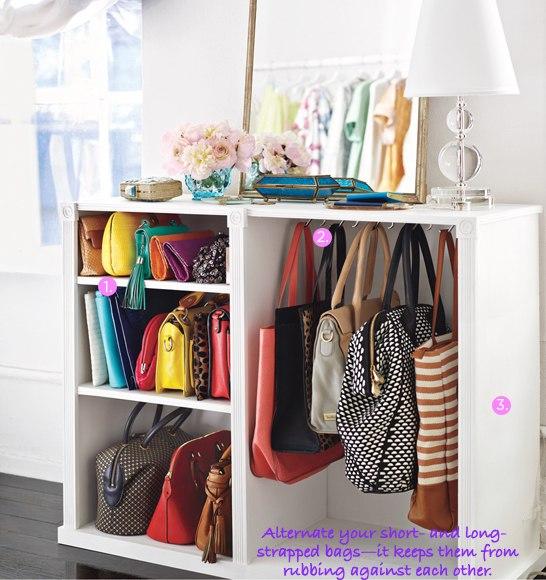 Organization- Organize Handbags- Storage IDeas