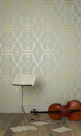 Wallpaper Trends- Metallic Wallpaper- Blue