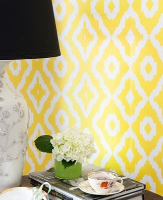 Yellow Ikat- Wallpaper- Graham Brown