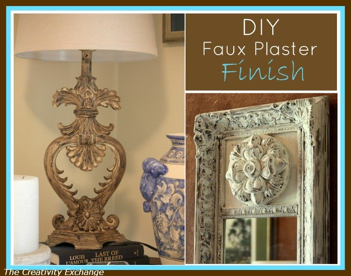 DIY Faux Plaster Paint Finish for Trash to Treasure Projects…