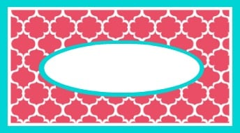 Free Printable Calling Card for Tags and Labels- The Creativity Exchange