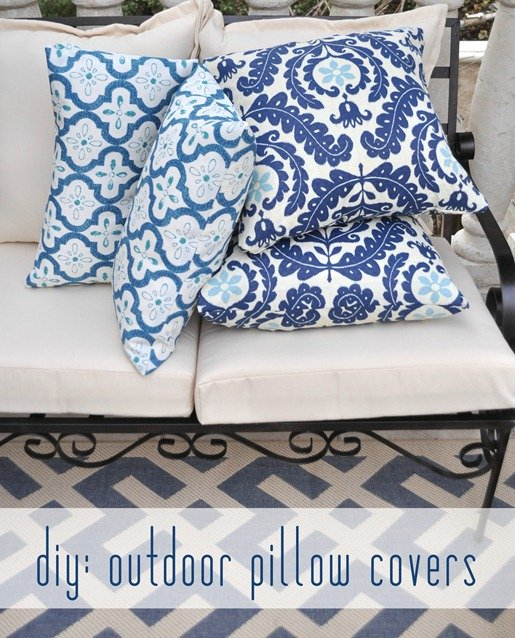 Outdoor Pillows- No Sew- Centsational Girl