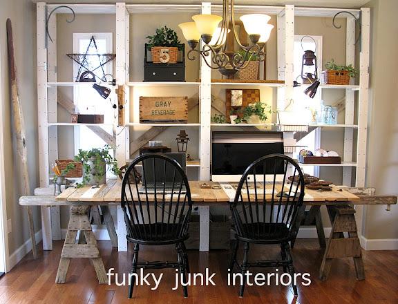 Farm Desk Makeover- Funky Junk Interiors