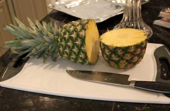 Sliced Pineapple- Fruit Tray- Recipe