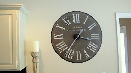 Clock- Painted- Wall
