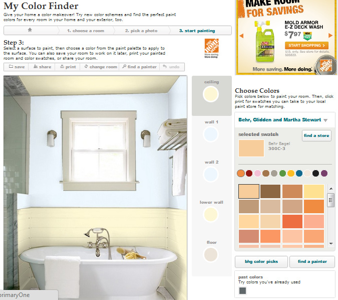 Better Homes and Garden- Color Finder- Paint Color Inspiration