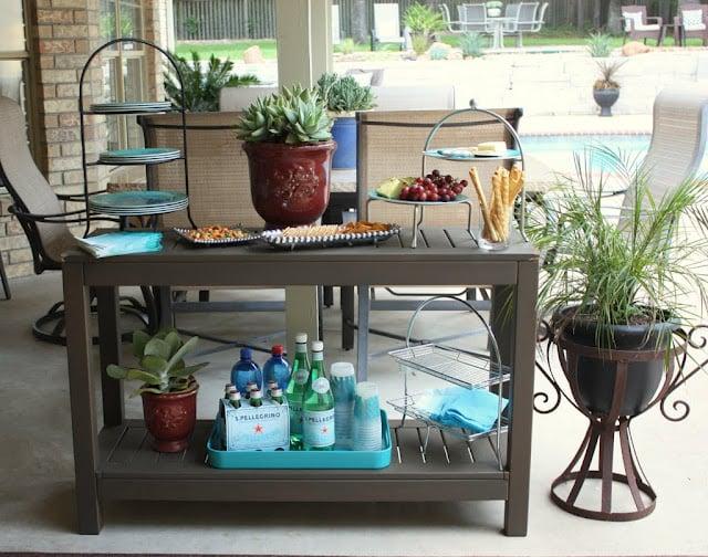 potting bench outdoor bar 3