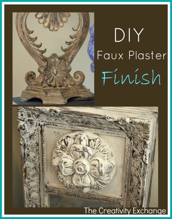 How to Make Faux Plaster- Trash to Treasure- The Creativity Exchange