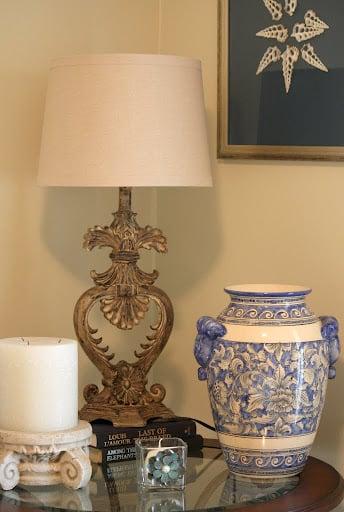 Faux Plaster- Lamp Revamp