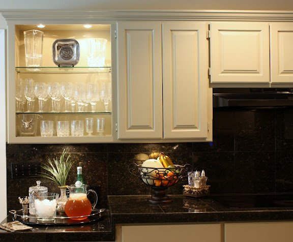 Kitchen- Update- Open Crystal Cabinet