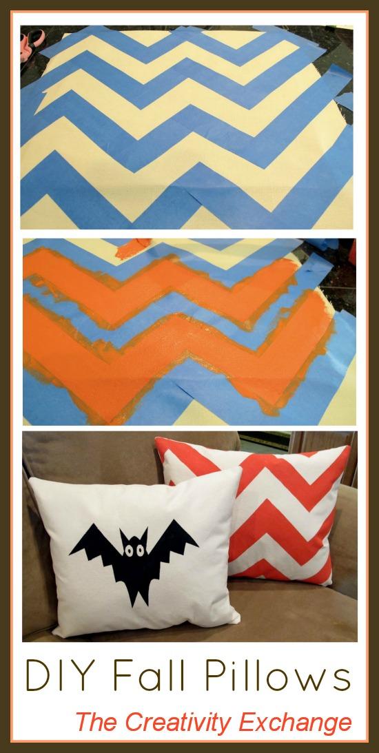 DIY Fall Pillows Using Screen Print Paint…