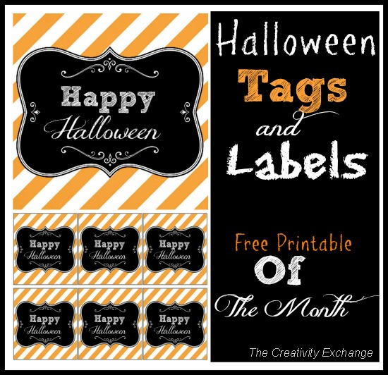 Free Printable Halloween Tags & Labels {Printable of the Month}…