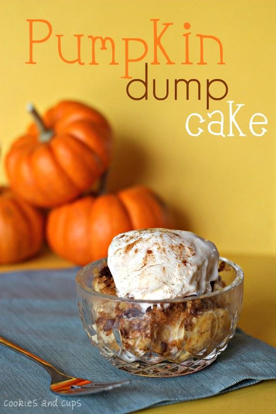 Pumpkin Dump Cake- Recipe- Cookies and Cups