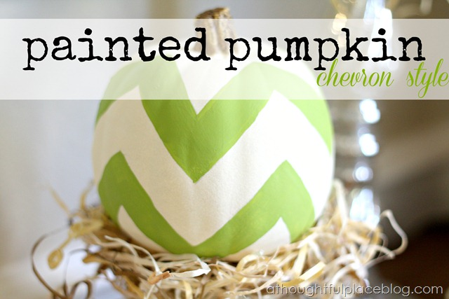 Chevron Painted Pumpkin- A Thoughtful Place