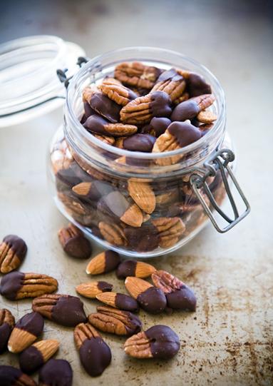 Chocolate Dipped Pecans- Recipe