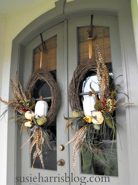 Fall Wreath- Door Wreath- Fall Blogland