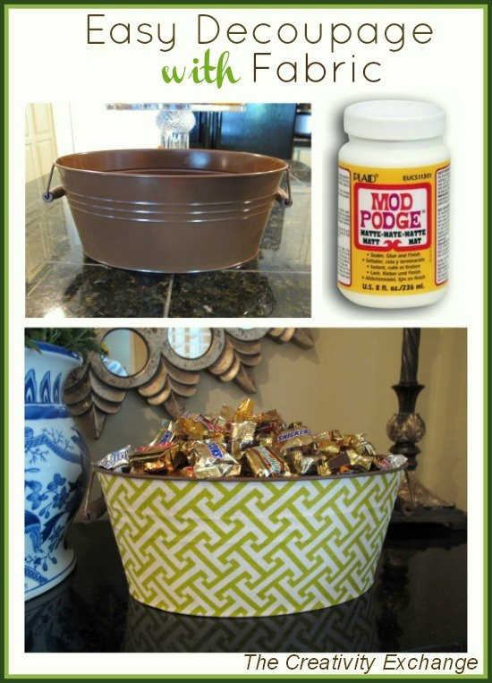 Craft- How to Decoupage- With Fabric- Instructions