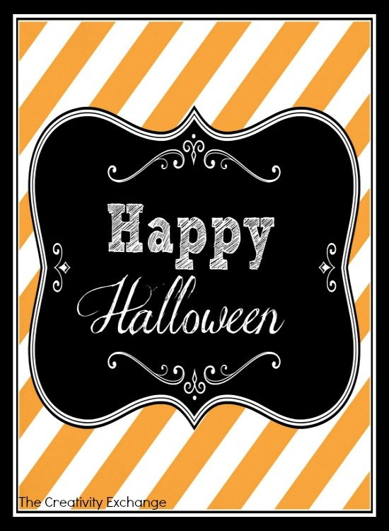 free printable halloween sign tag labels - Free Printables For Halloween