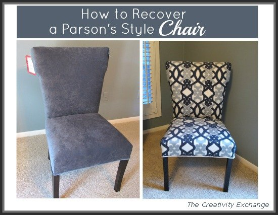 DIY- Upholstery- Chair- Interior Design. How to recover ... & How to Recover a Parsonu0027s Style Chair Furniture Revamp...