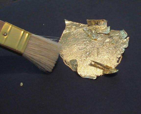 How to Gold Leaf on Paper- Instructions-Tutorial- Craft